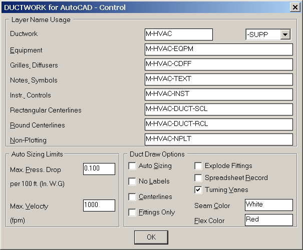 control dialog box